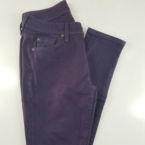 7 for all mankind Skinny Women's Purple BR02